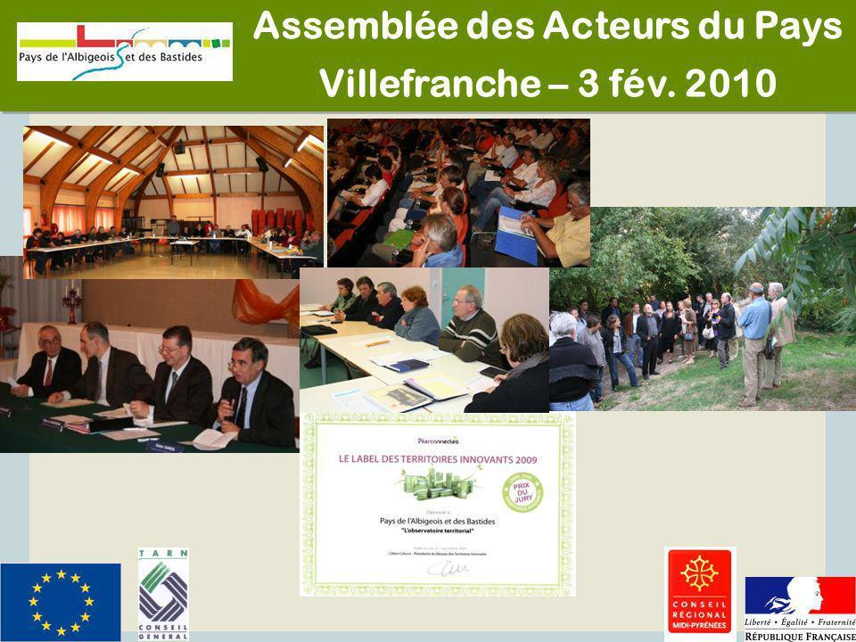 1 Assemblée des Acteurs du Pays Villefranche – 3 fév. 2010