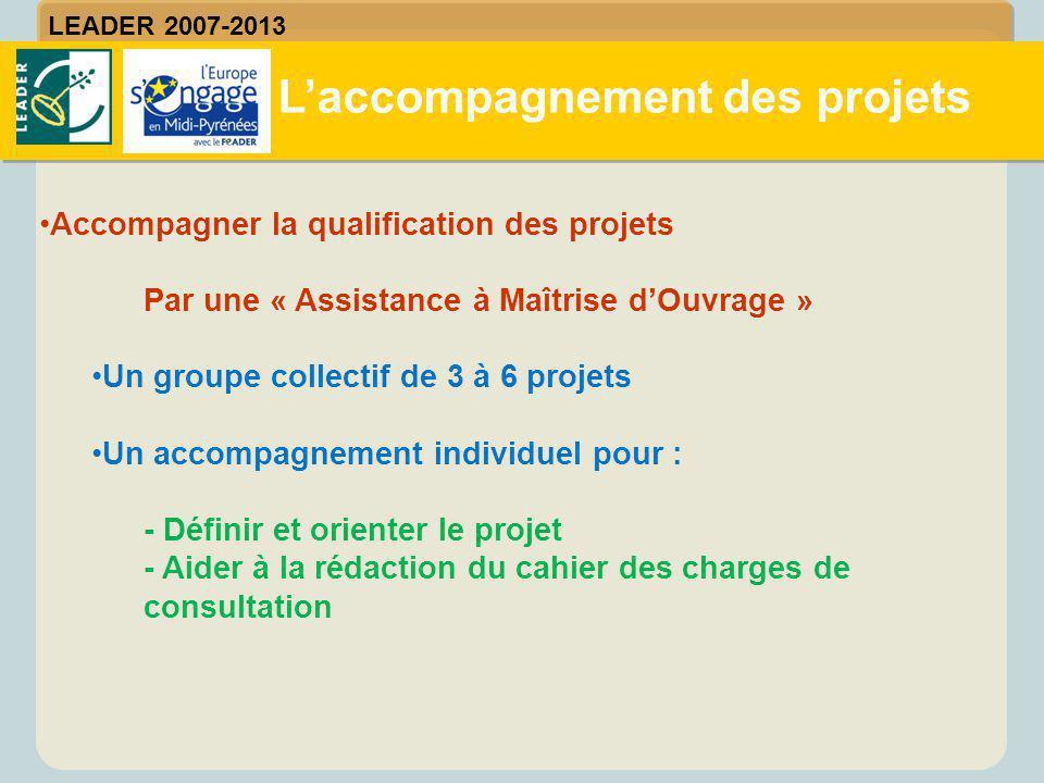 L'accompagnement des projets LEADER 2007-2013 Accompagner la qualification des projets Par une « Assistance à Maîtrise d'Ouvrage » Un groupe collectif