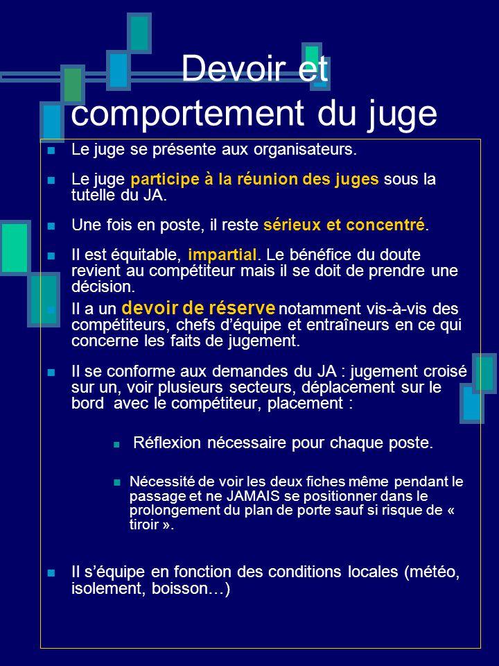 Rôle du juge de portes (art RP 15 ) Il observe le franchissement des portes dont il doit assurer le jugement.
