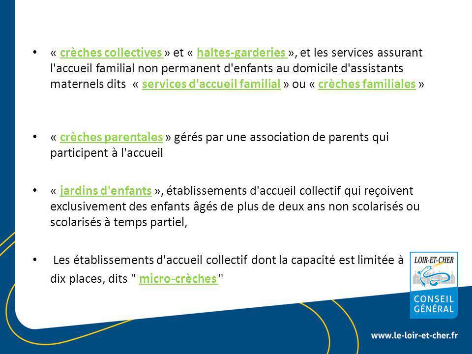 Le règlement de fonctionnement Art R 2324-30 du CSP Le règlement de fonctionnement 4) Les horaires et les conditions d arrivée et de départ des enfants Heures d'accueil (départ – arrivée) Modalités de prise en charge de l'enfant Vacances