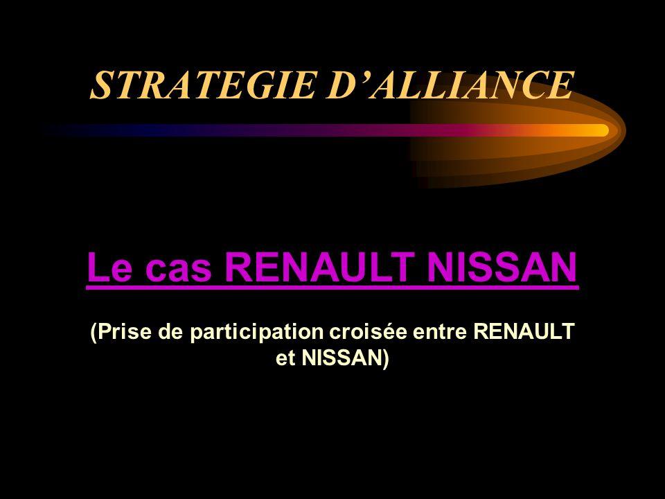 STRATEGIE D'ALLIANCE Le cas RENAULT NISSAN (Prise de participation croisée entre RENAULT et NISSAN)