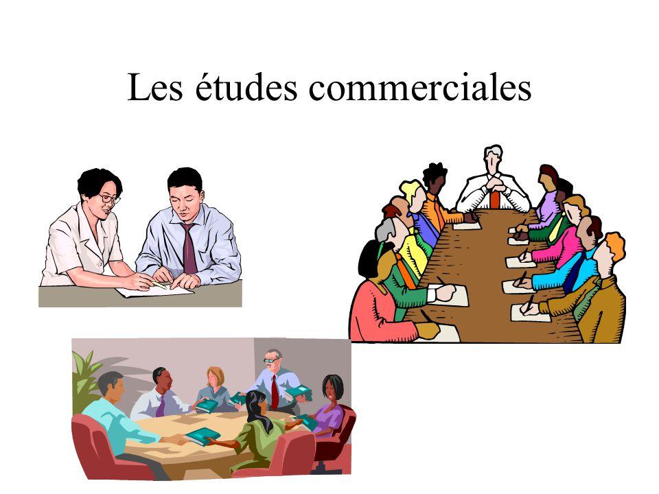 Les études commerciales
