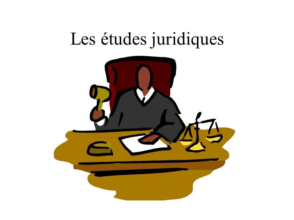 Les études juridiques