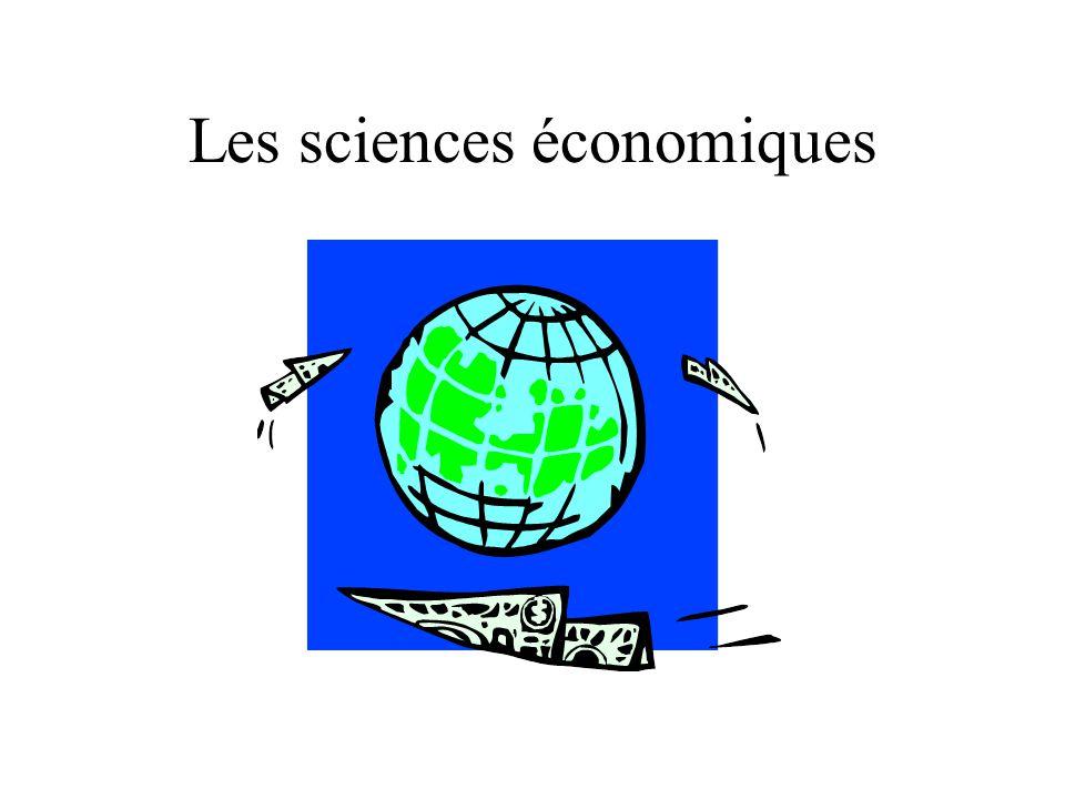 Les sciences économiques
