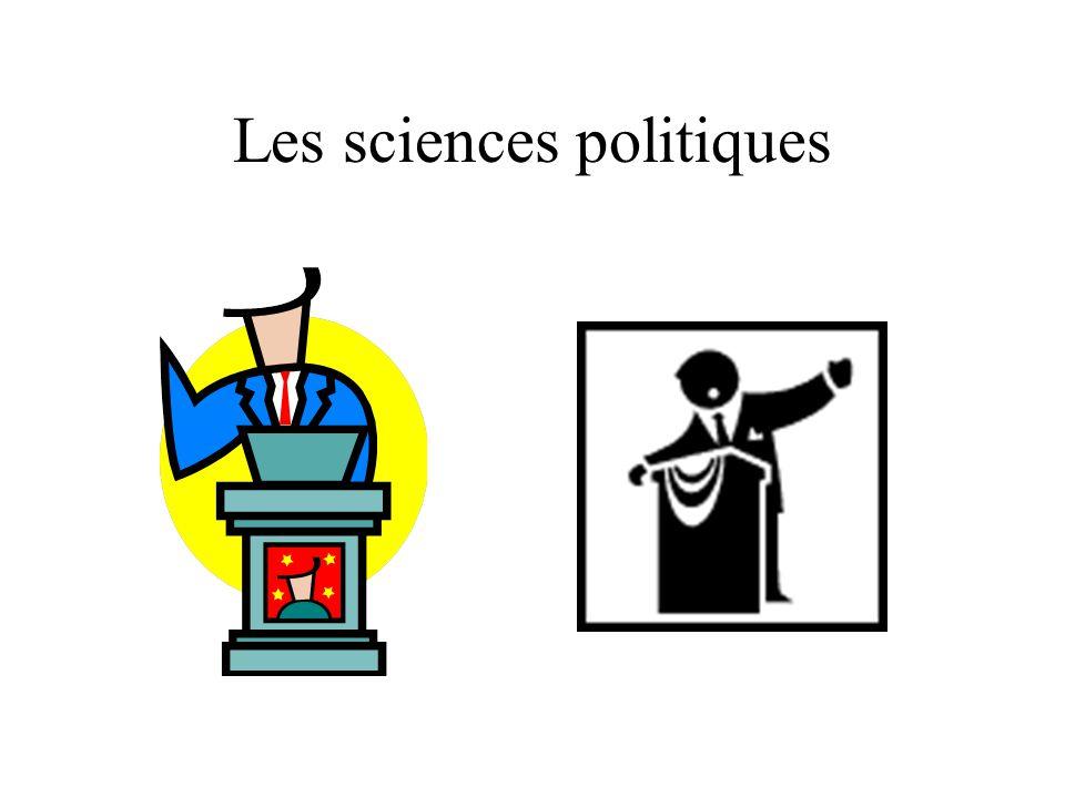 Les sciences politiques