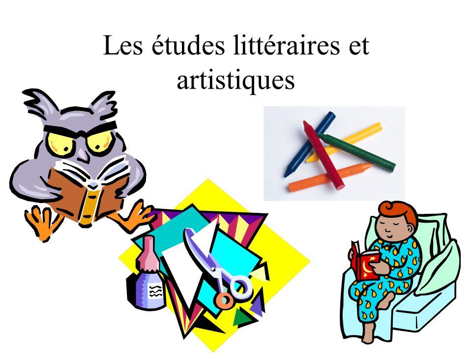 Les études littéraires et artistiques