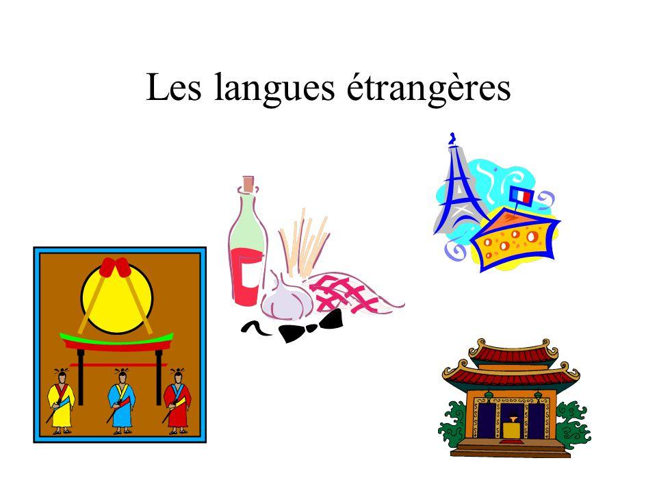 Les langues étrangères