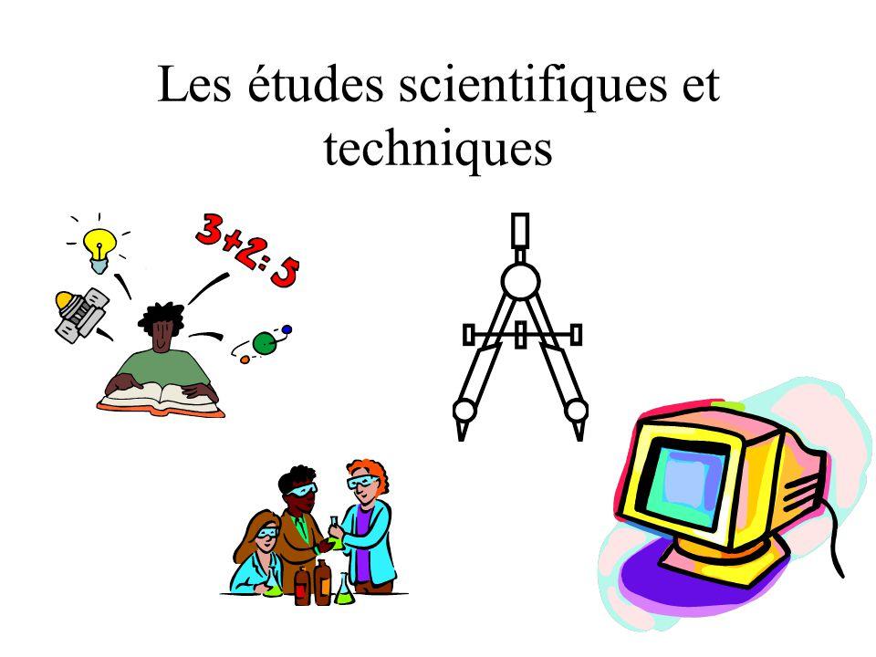 Les études scientifiques et techniques