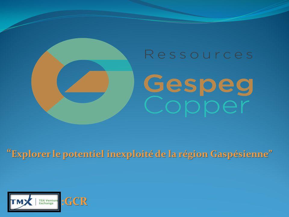 Explorer le potentiel inexploité de la région Gaspésienne GCR :GCR