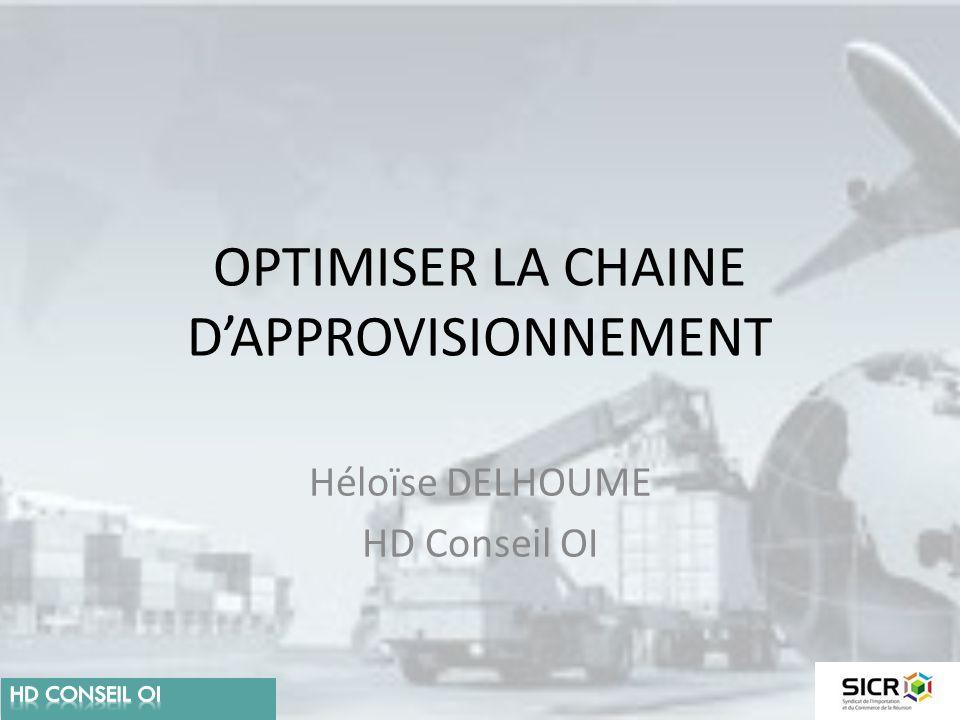 OPTIMISER LA CHAINE D'APPROVISIONNEMENT Héloïse DELHOUME HD Conseil OI