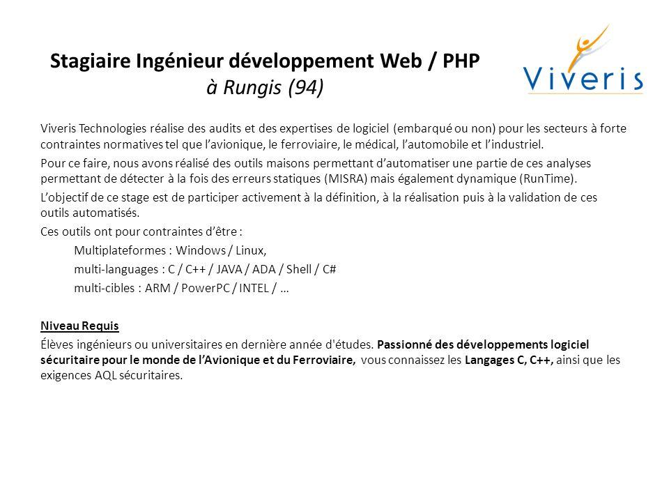 Stagiaire Ingénieur - Portage Linux embarqué temps- réel à Villeurbanne (69) Intégré dans l'équipe logicielle d'un projet de sécurité ferroviaire, vous aurez en charge le portage d une application temps réel existante vers Linux.