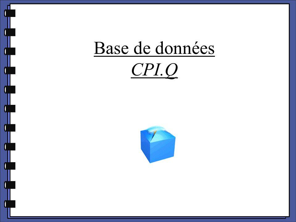 Base de données CPI.Q