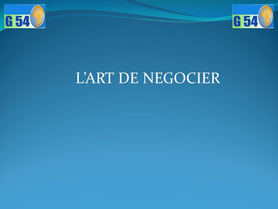 L'ART DE NEGOCIER
