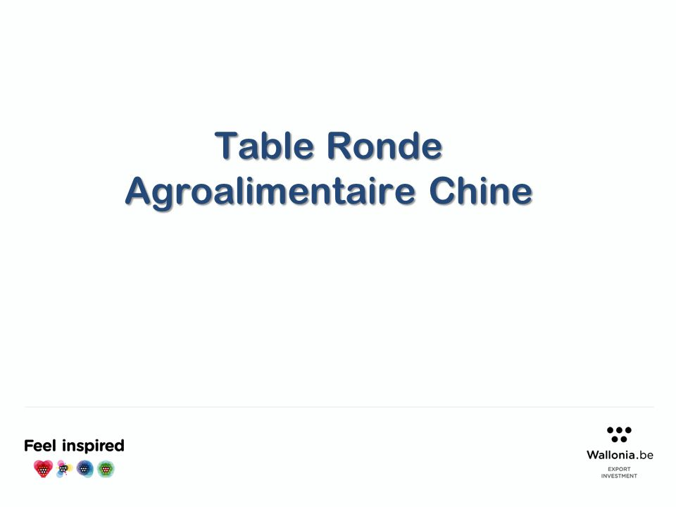 Table Ronde Agroalimentaire Chine