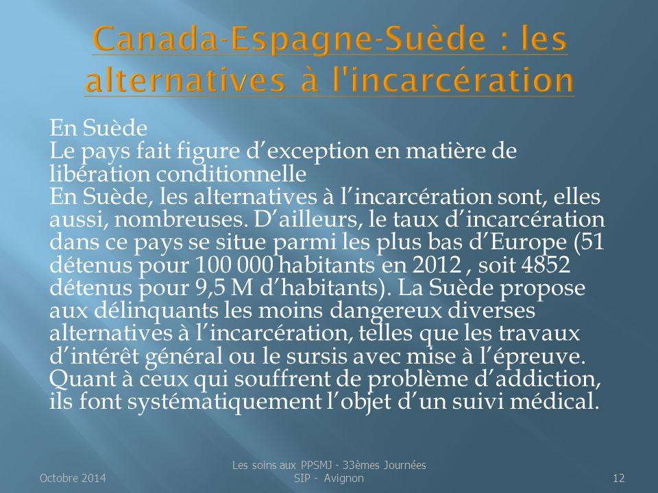 En Suède Le pays fait figure d'exception en matière de libération conditionnelle En Suède, les alternatives à l'incarcération sont, elles aussi, nombr