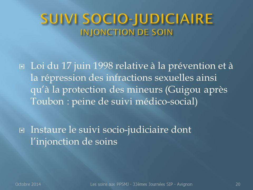  Loi du 17 juin 1998 relative à la prévention et à la répression des infractions sexuelles ainsi qu'à la protection des mineurs (Guigou après Toubon