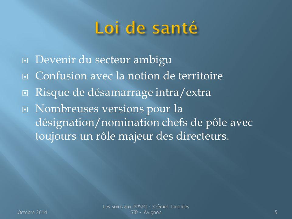 5-Propositions Octobre 2014Les soins aux PPSMJ - 33èmes Journées SIP - Avignon36