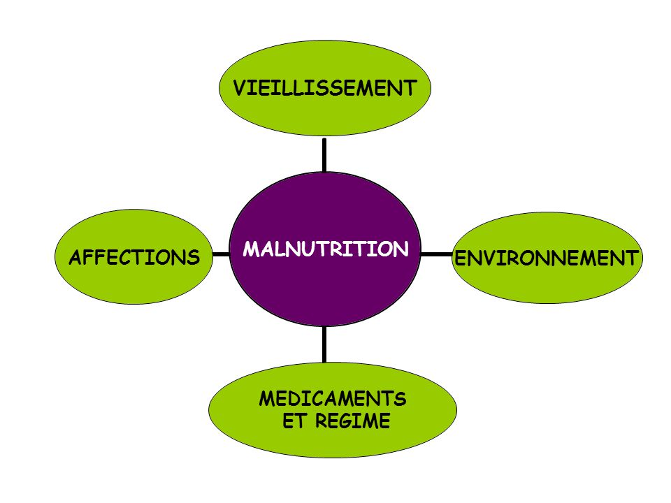 MALNUTRITION VIEILLISSEMENTENVIRONNEMENT MEDICAMENTS ET REGIME AFFECTIONS