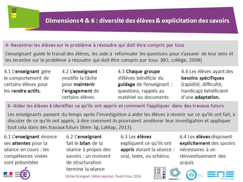 Dimension 5 : Quelle est la place de l'argumentation .