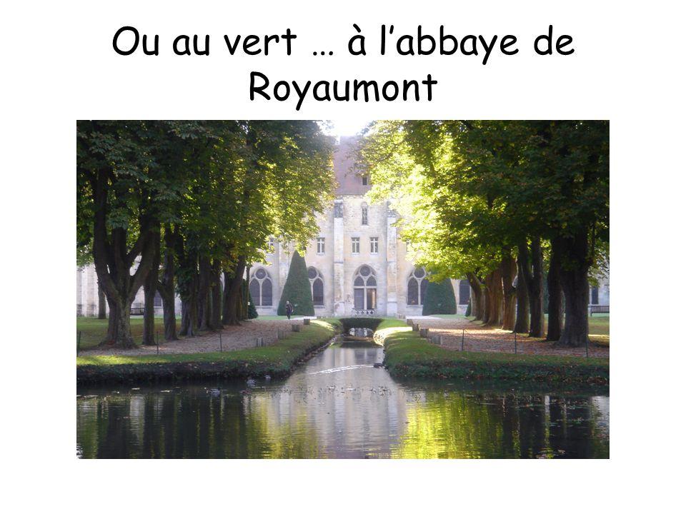 Ou au vert … à l'abbaye de Royaumont