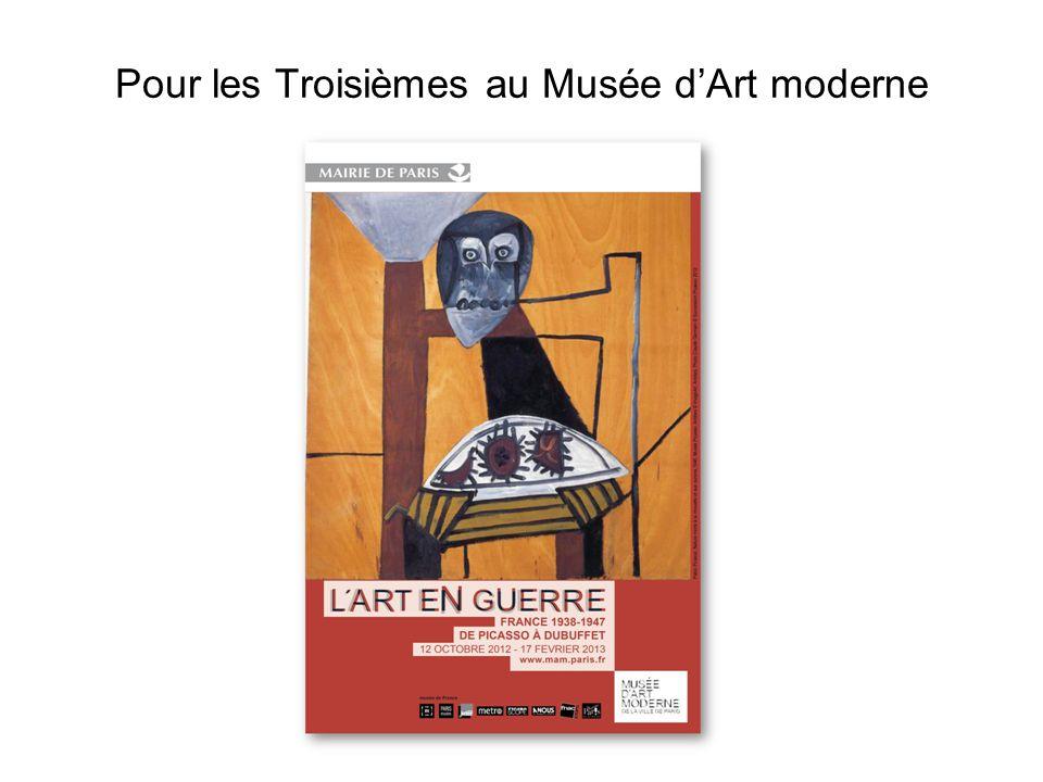 Pour les Troisièmes au Musée d'Art moderne