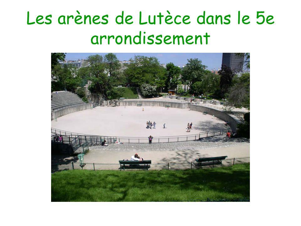 Les arènes de Lutèce dans le 5e arrondissement