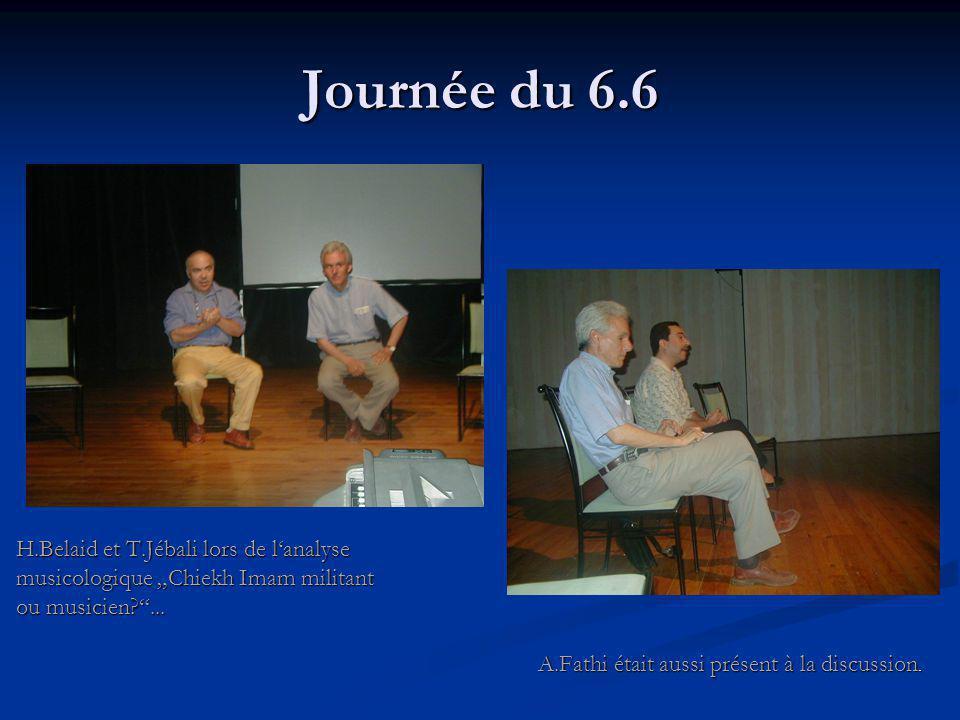 """Journée du 6.6 H.Belaid et T.Jébali lors de l'analyse musicologique """"Chiekh Imam militant ou musicien? ..."""