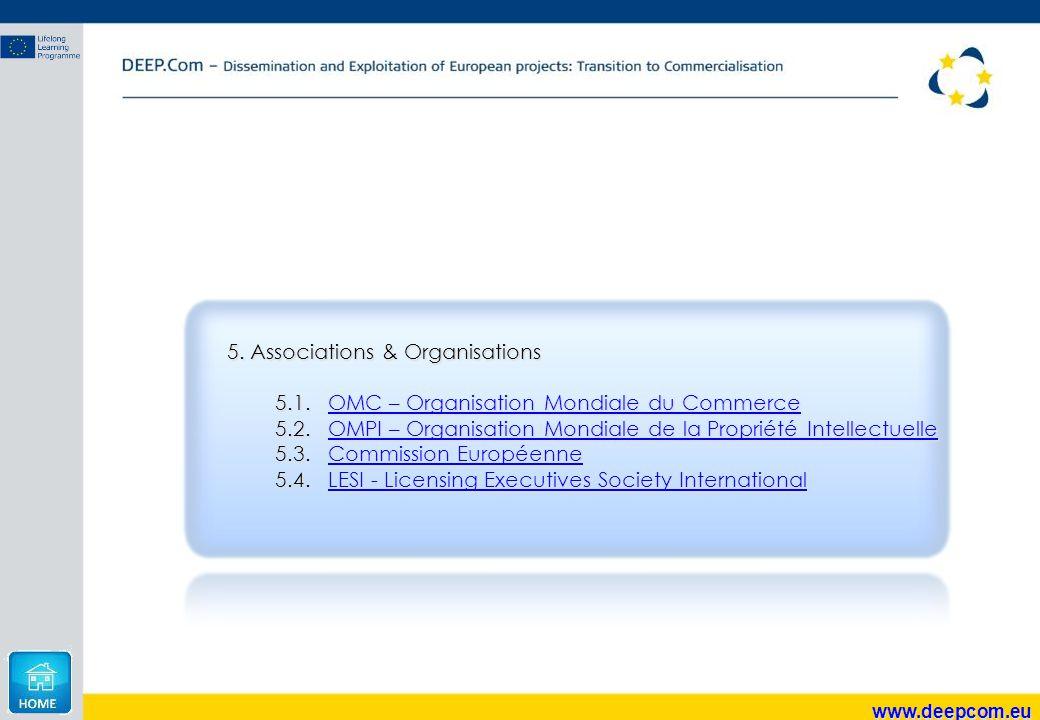 5.Associations & Organisations 5.1.