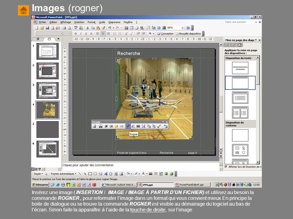 Insérez une image ( INSERTION / IMAGE / IMAGE À PARTIR D'UN FICHIER) et utilisez au besoin la commande ROGNER, pour reformater l'image dans un format