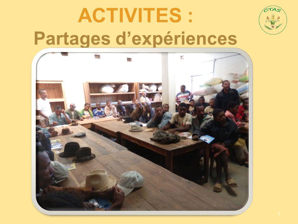 ACTIVITES : Partages d'expériences 7