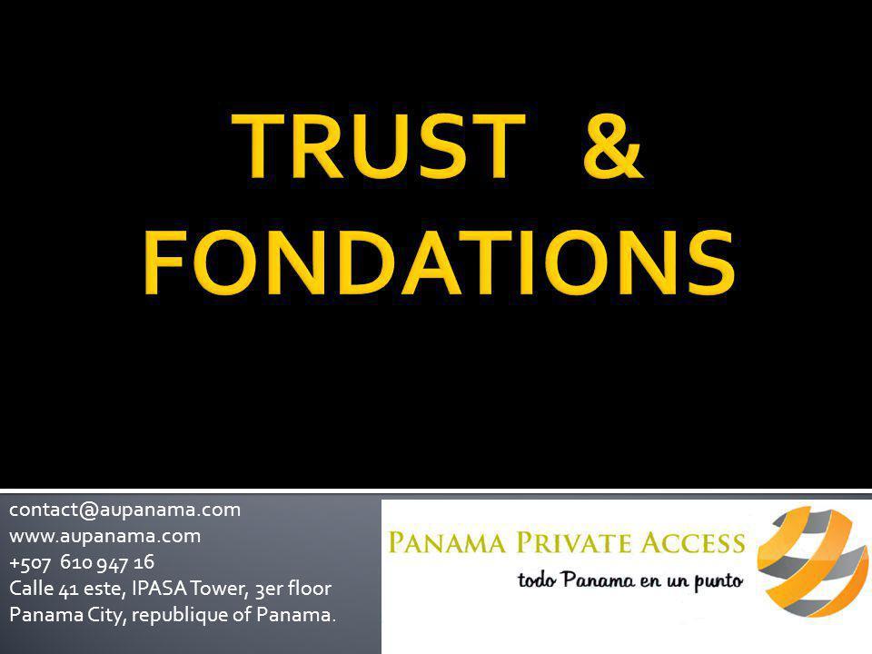 Le Trust n'a pas de personnalité juridique  Les actions judiciaires sont dirigées contre le Trustee  Le Trust est soumis à la loi du pays dans lequel il a été constitué et d'où il est administré
