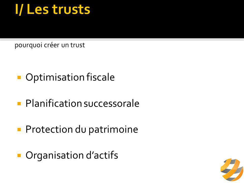  Optimisation fiscale  Planification successorale  Protection du patrimoine  Organisation d'actifs