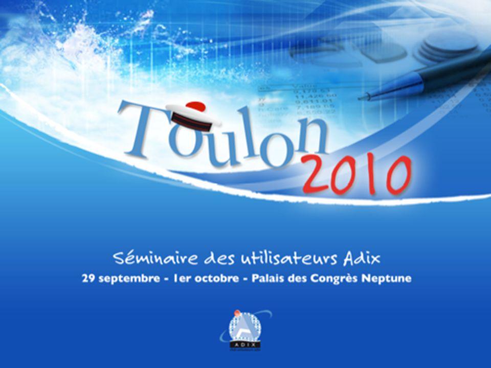 29 septembre – 1 ER octobre - Palais des Congrès Neptune ADIX V5 - BUDGET