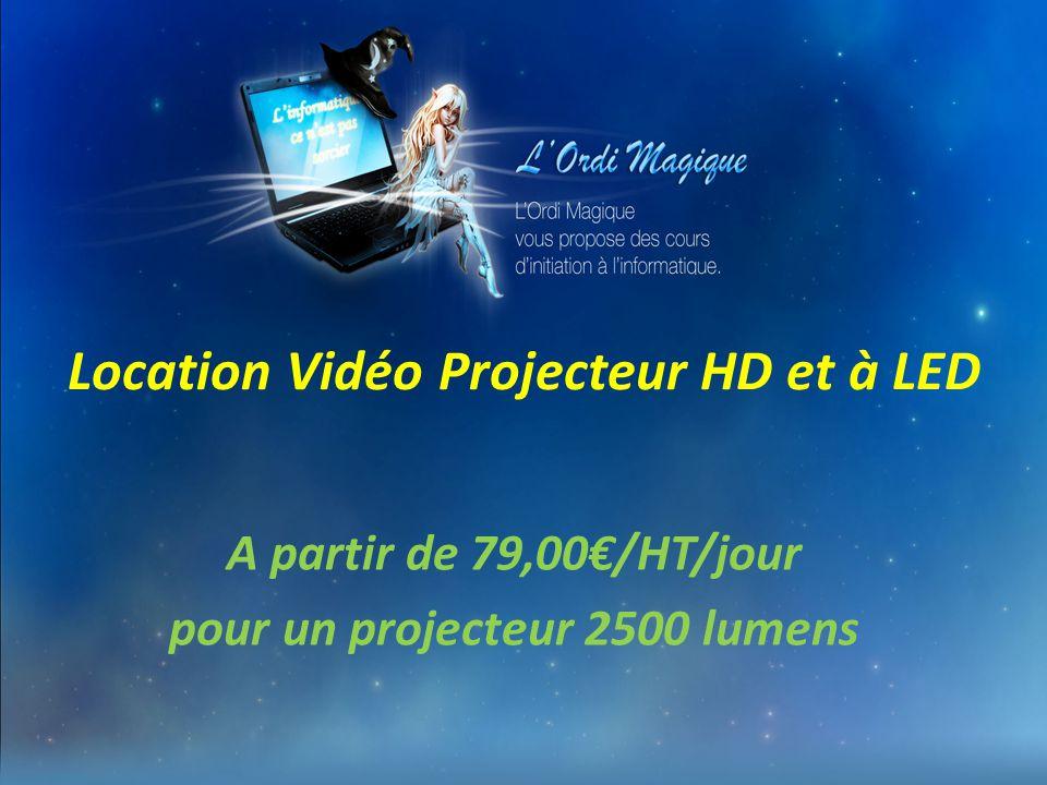 Location Vidéo Projecteur HD et à LED A partir de 79,00€/HT/jour pour un projecteur 2500 lumens