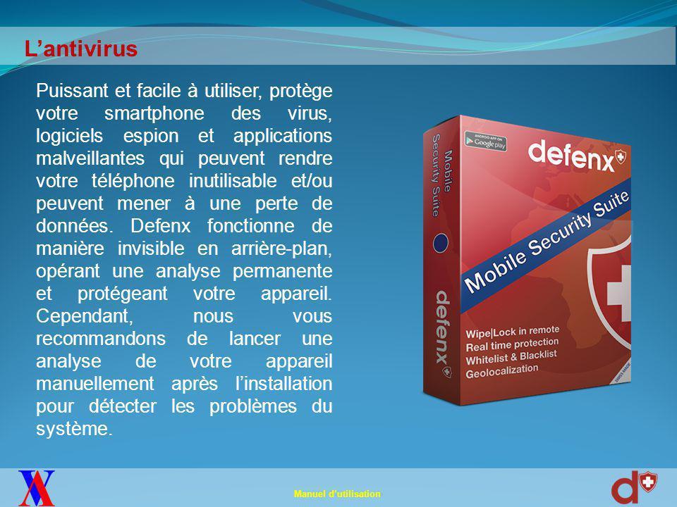 Lancez l'application Defenx et appuyez sur Analyse Anti-Virus.