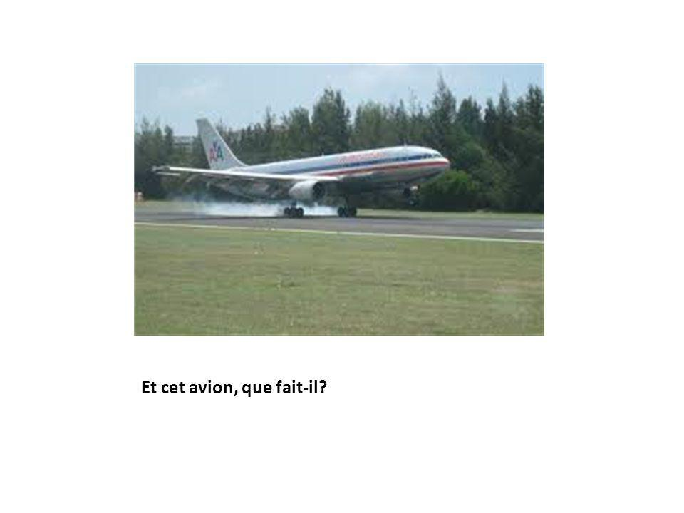 Et cet avion, que fait-il?
