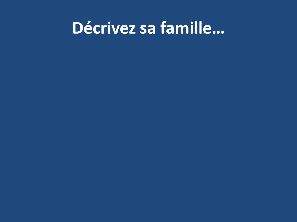 Décrivez sa famille…