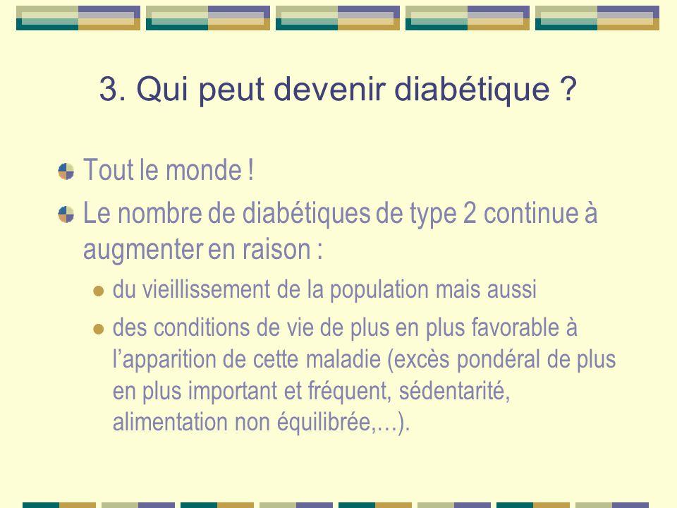 3.Qui peut devenir diabétique . Tout le monde .