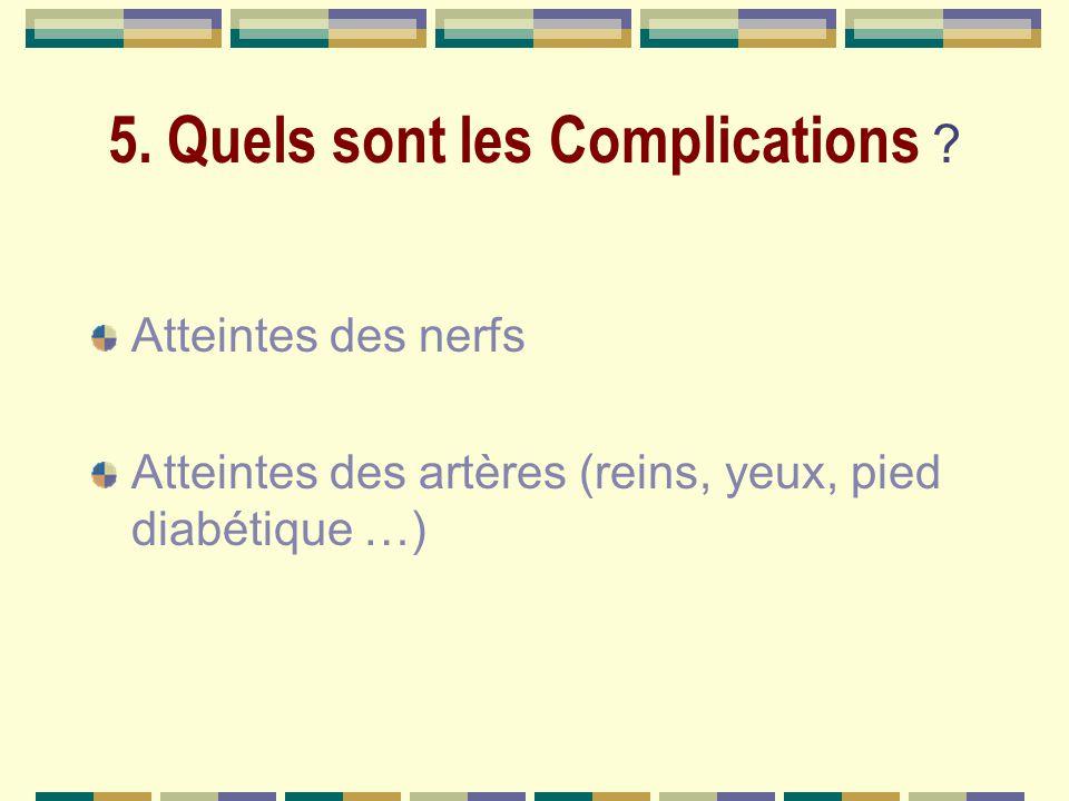 5.Quels sont les Complications .