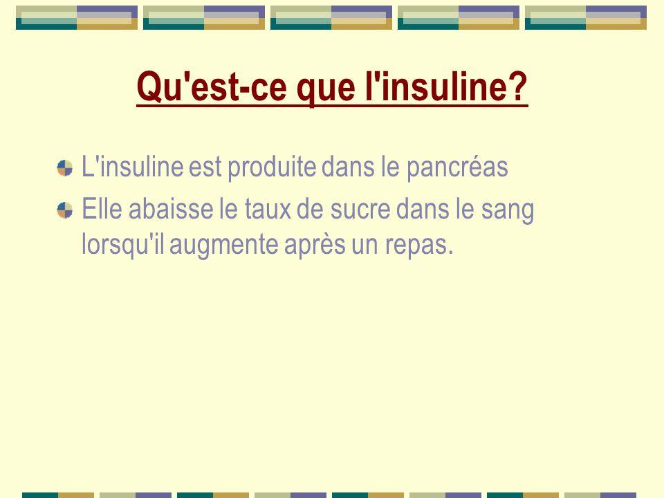 Qu est-ce que l insuline.