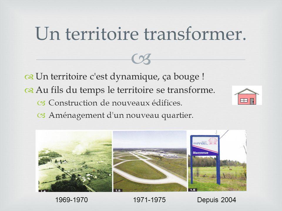  Un territoire transformer.  Un territoire c est dynamique, ça bouge .