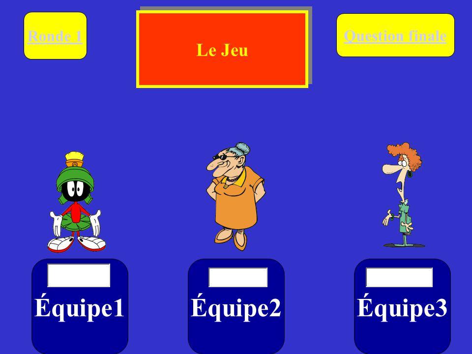 Équipe1Équipe2Équipe3 Ronde 1 $ $$ Question finale Le Jeu