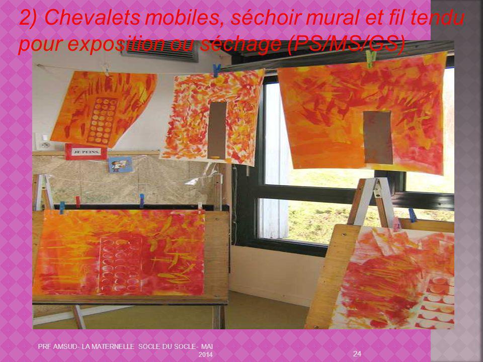24 2) Chevalets mobiles, séchoir mural et fil tendu pour exposition ou séchage (PS/MS/GS) PRF AMSUD- LA MATERNELLE SOCLE DU SOCLE- MAI 2014