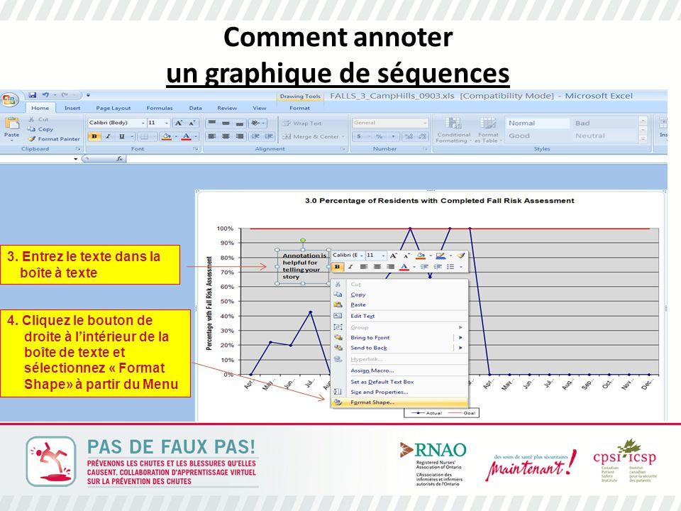 Comment annoter un graphique de séquences 3. Entrez le texte dans la boîte à texte 4.