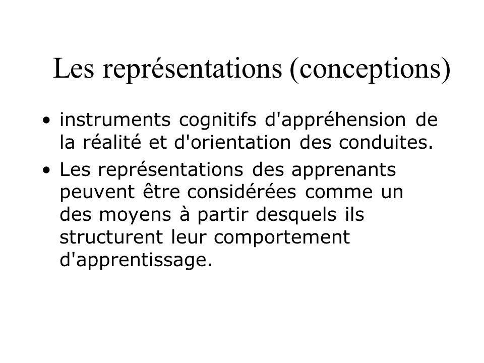 Représentations … Baillauquès (2001) précise encore qu il y a beaucoup de choses dans les représentations : du savoir expérientiel, du vécu, du savoir vrai , du savoir commun », du faux savoir, des croyances élaborées à partir de discours sociaux