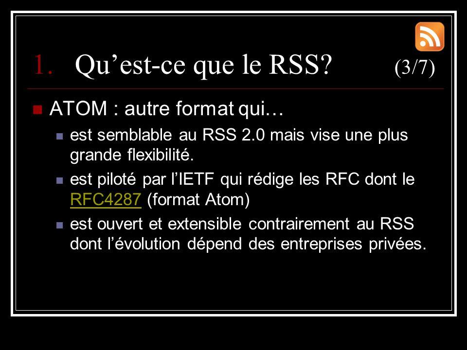 1.Qu'est-ce que le RSS.