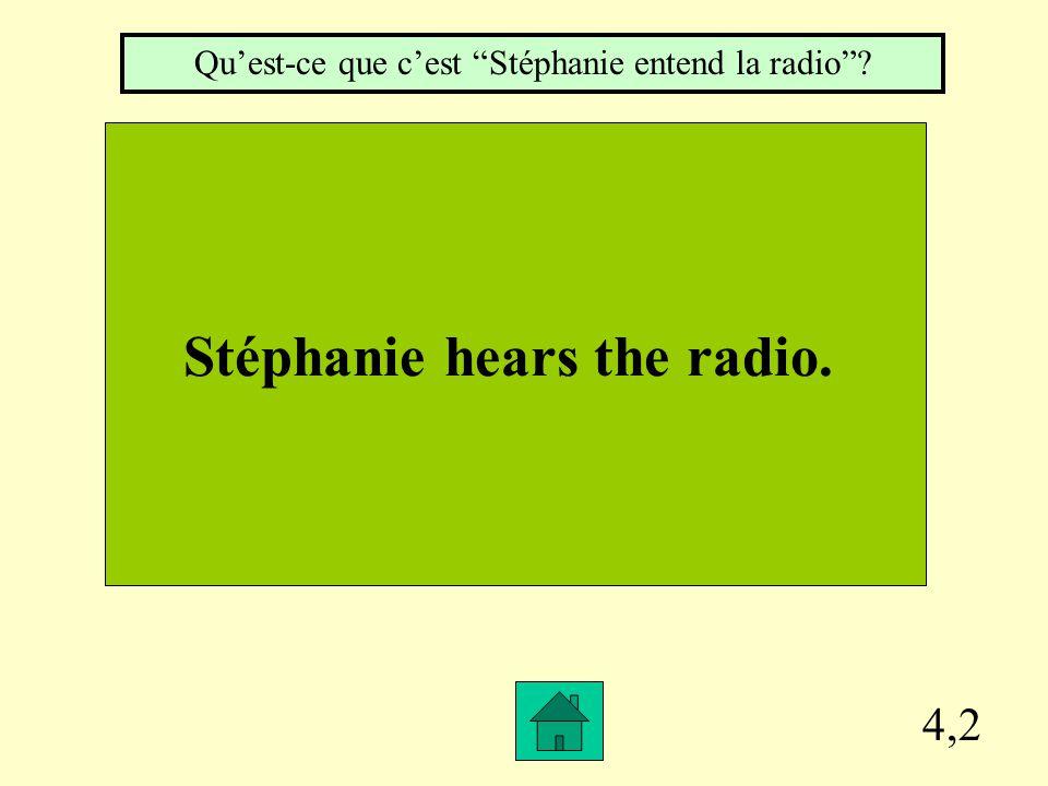 """4,1 We listen to the teacher. Qu'est-ce que c'est """"Nous écoutons le prof""""?"""