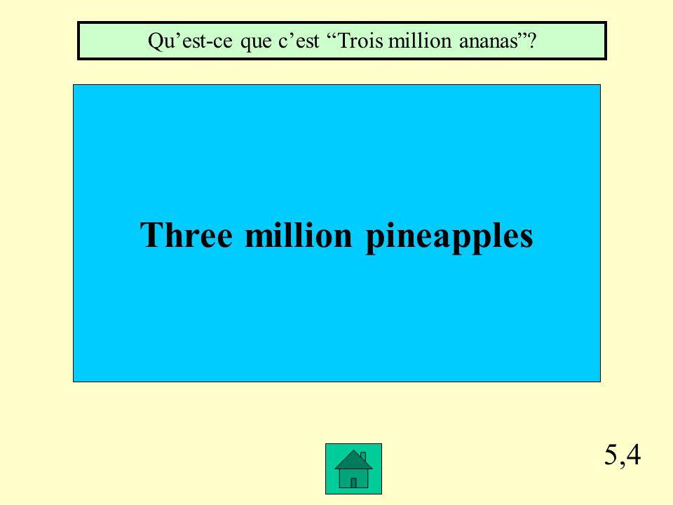"""5,3 Jean-Pierre passes the test. Qu'est-ce que c'est """"Il réussit à l'examen""""?"""