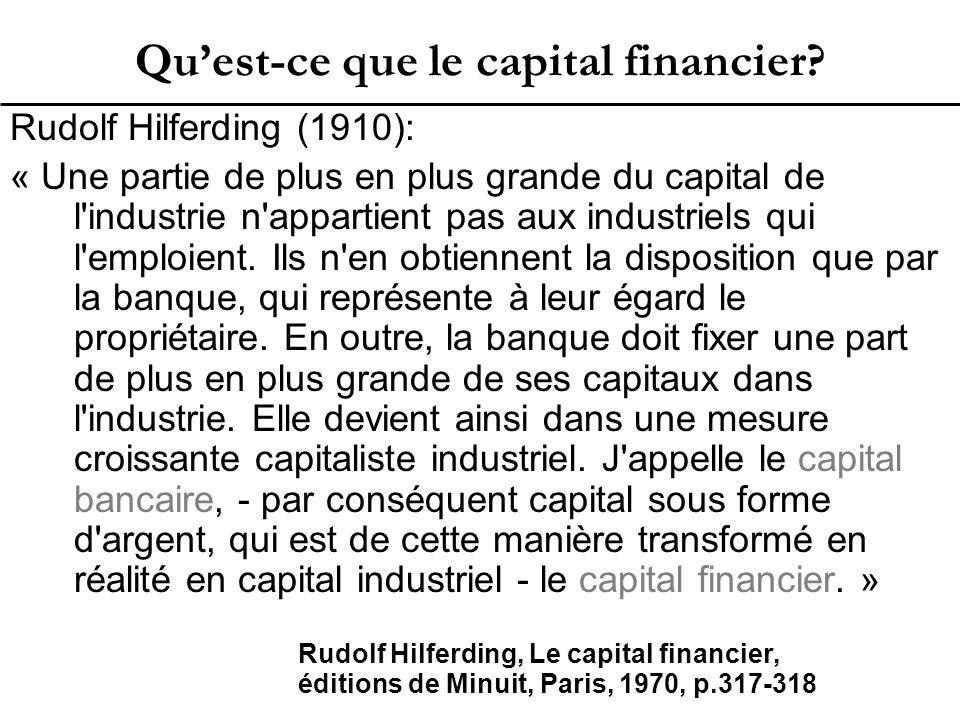 Qu'est-ce que le capital financier.