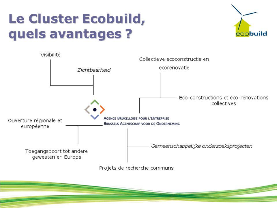 Le Cluster Ecobuild, quels avantages